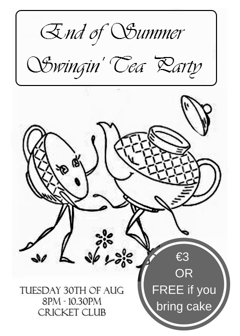 end of summer swinging tea party flyer